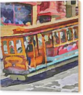 San Francisco Trams 5 Wood Print by Yury Malkov