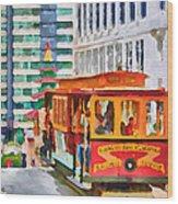 San Francisco Trams 6 Wood Print
