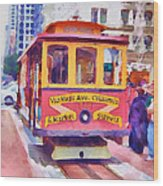 San Francisco Trams 7 Wood Print