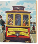 San Francisco Trolley Wood Print