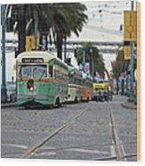 San Francisco Trolleys Wood Print