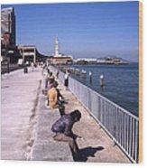 San Francisco Waterfront 1975 Wood Print