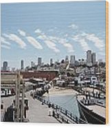 San Francisco Waterfront Wood Print