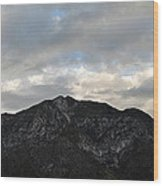 San Gabriel Mountains Evening Wood Print