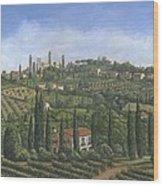 San Gimignano Tuscany Wood Print by Richard Harpum