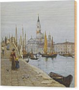 San Giorgio Maggiore From The Zattere Wood Print
