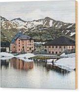 San Gottard Pass Wood Print