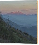 San Jacinto Sunset Wood Print