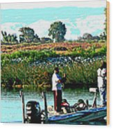 San Joaquin River Fish'n Wood Print