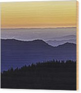 San Joaquin Sunset Wood Print