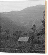 San Jose Hut Wood Print