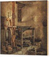 San Jose Mission Mill Wood Print