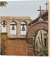 San Juan Capistrano Mission - Photography By Jo Ann Tomaselli Wood Print
