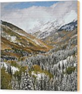 San Juan Mountains After Recent Snowstorm Wood Print
