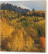 San Juan Mountains In Autumn Wood Print
