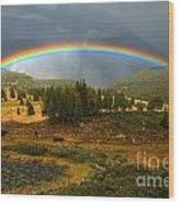 San Juan Mountains Rainbow Wood Print