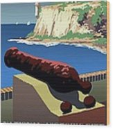 San Juan National Historic Site Vintage Poster Wood Print