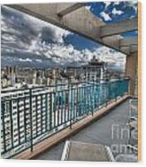 San Juan Puerto Rico Hdr Cityscape Wood Print by Amy Cicconi
