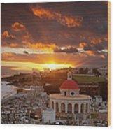 San Juan Sunrise Wood Print