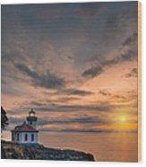 San Juan Sunset Wood Print