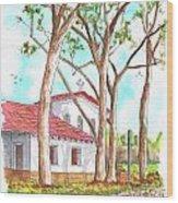 San Luis Obispo Mission In San Luis Obispo, California Wood Print