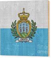 San Marino Flag Wood Print