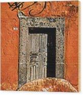 San Miguel Allende Door Wood Print