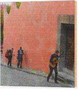 San Miguel De Allende Mexico Streets Wood Print