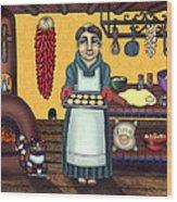 San Pascual Making Biscochitos Wood Print