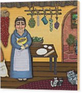 San Pascuals Kitchen 2 Wood Print by Victoria De Almeida