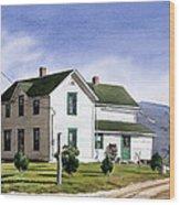 San Pasquale House Wood Print