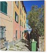 San Rocco In Camogli Wood Print