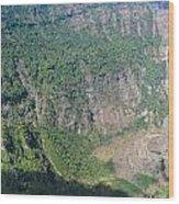 San Salvador Volcano Wood Print