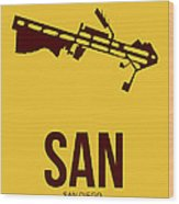San San Diego Airport Poster 1 Wood Print