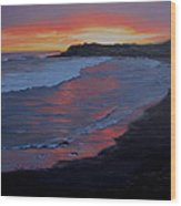 San Simeon Sunset Wood Print