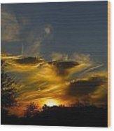 San Tan Sunset Wood Print