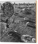 San Xavier Del Bac Cemetery 1987 Wood Print