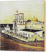 San Xavier Del Bac Mission As Seen From An Adjacent Hill C-1913-2013.  Wood Print