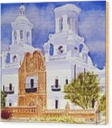 San Xavier Mission Wood Print