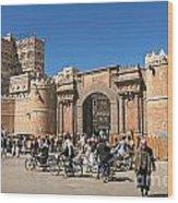 Sanaa City In Yemen  Wood Print