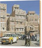 Sanaa Old Town In Yemen Wood Print