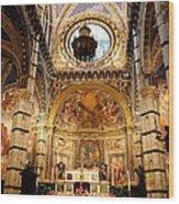 Sanctuary Duomo Siena Wood Print