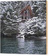 Sanctuary In Winter Wood Print