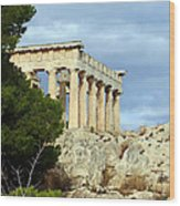 Sanctuary Of Aphaia 2 Wood Print
