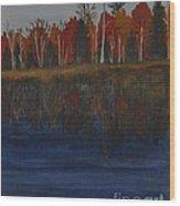 Sanctuary Pond Wood Print