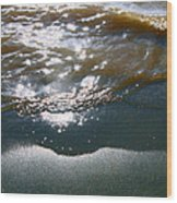 Sand And Water Wood Print
