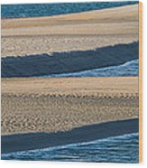 Sand And Water Textures Abstract Wood Print