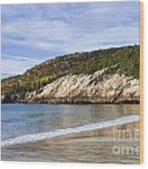 Sand Beach Acadia Wood Print