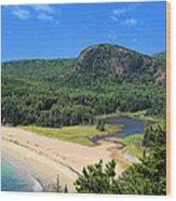 Sand Beach And The Beehive Wood Print