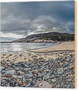 Sand Beach At Acadia Wood Print